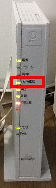 回線終端装置一体型ひかり電話ルーター
